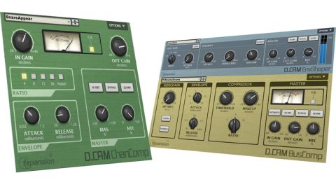 ChanComp is an 1176-style limiting amplifier and BusComp is an SSL-style bus compressor