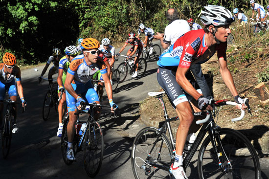 Frank Schleck attacks, Vuelta a Espana 2010, stage 16