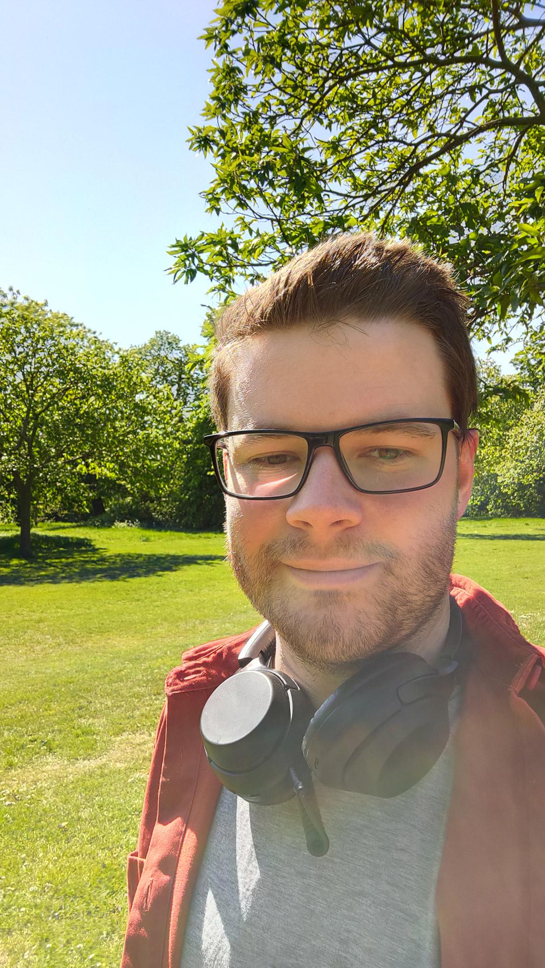 A selfie in 'standard' mode
