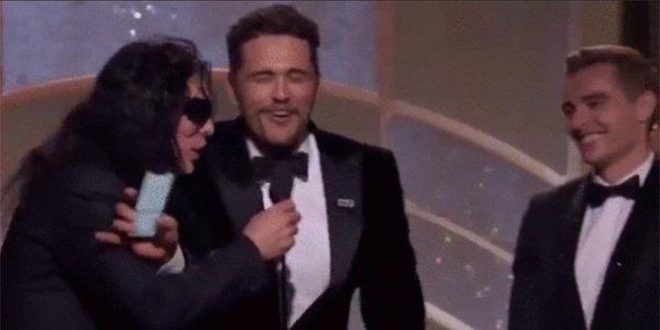 James Franco Tommy Wiseau Golden Globes 2018