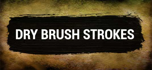 Photoshop brushes: Dry brush strokes