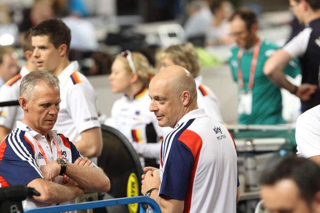 Shane Sutton and David Brailsford, Track World Championships 2012, day five