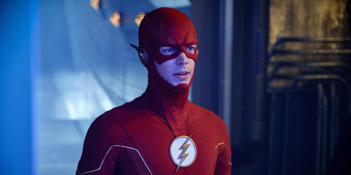 The Flash (Grant Gustin) stares ahead in The Flash