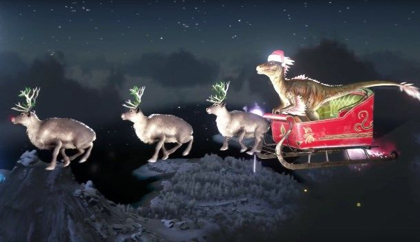 Ark Survival Evolved Holiday Update Brings Raptor Claus