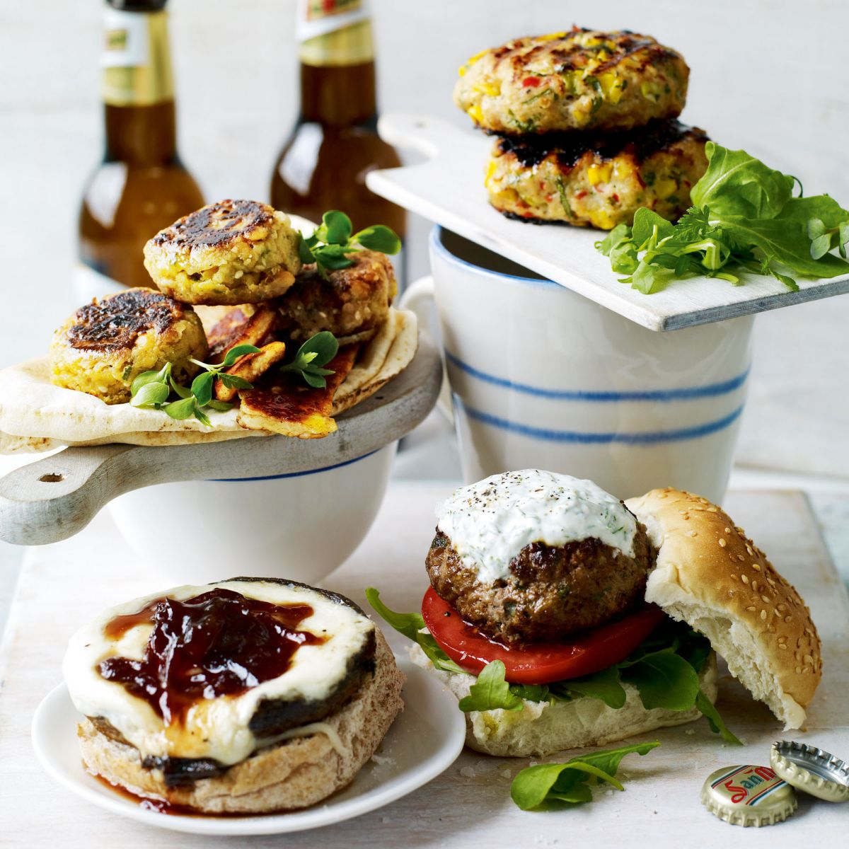 These Middle Eastern lamb burgers are a perfect change to an Easter main course
