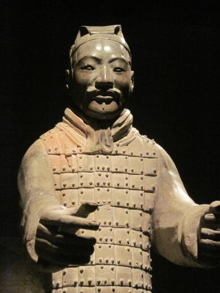 Terracotta warrior from Qin Shi Huang's tomb