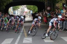 The Lotto train leads Greipel to the finish