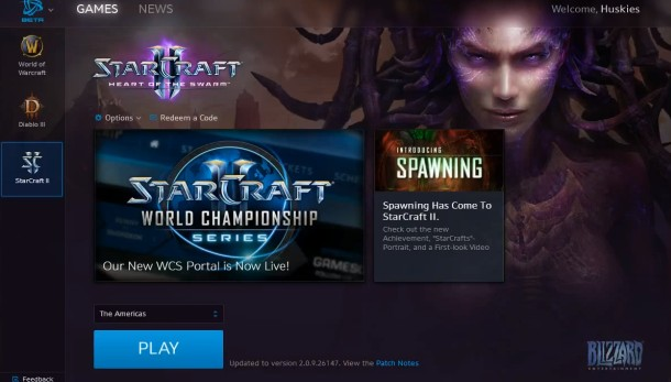 Blizzard's Battle net desktop launcher shown in first footage of
