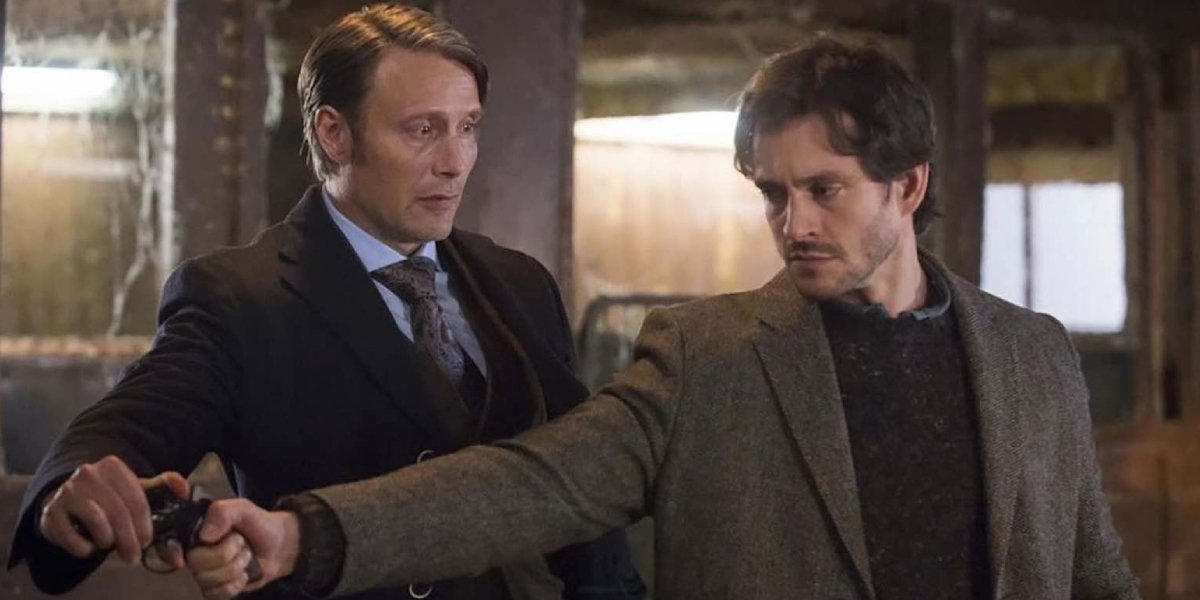 Mads Mikkelson and Hugh Dancy on Hannibal