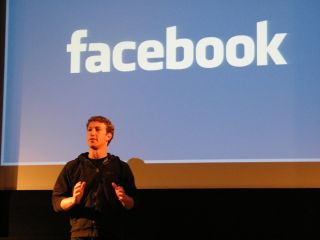 Zuckerberg speaking in London