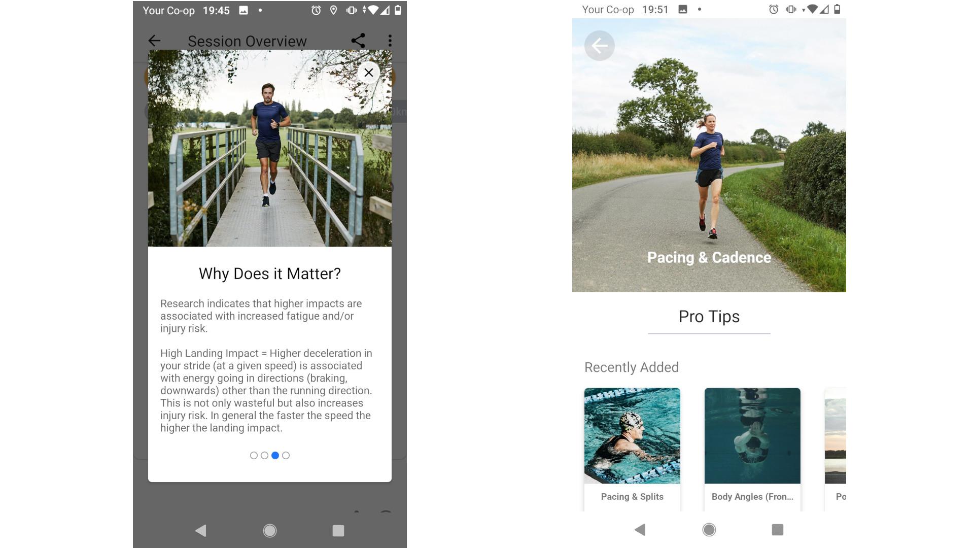 Screengrabs from Incus Cloud app
