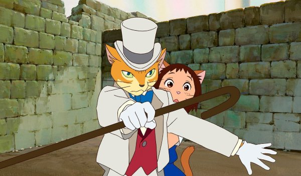 The Cat Returns The Baron shields Haru
