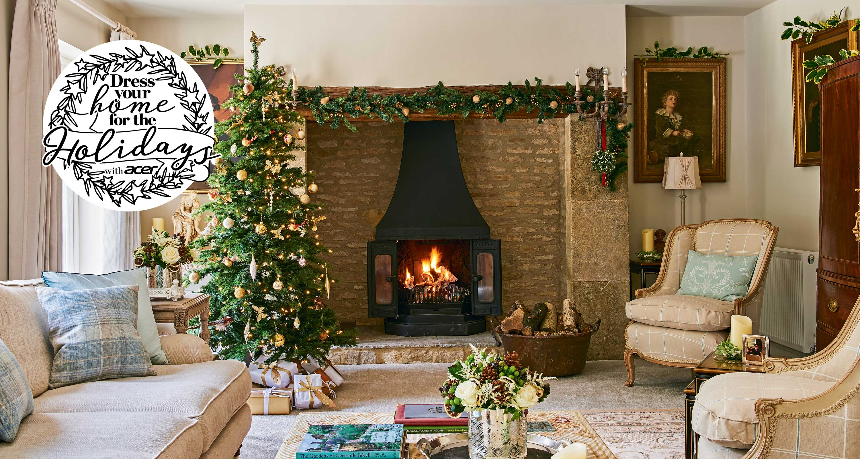 Christmas Living Room Ideas Living Rooms For Christmas Homes Gardens
