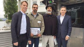 Soundgarden attend boat launch