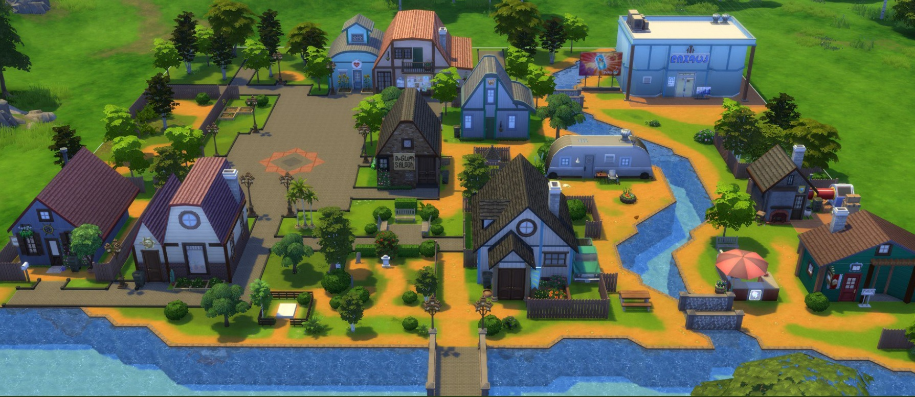 Stardew Valley's Pelican Town looks great in The Sims 4 | PC Gamer