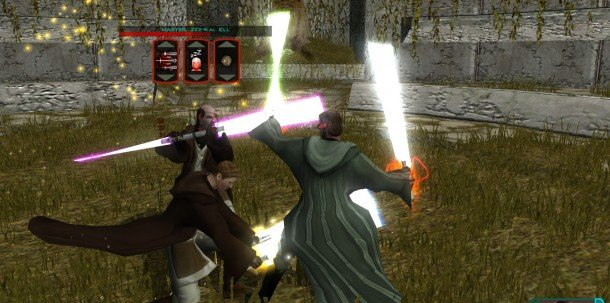 Lightsaber duelling in KOTOR 2