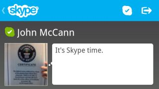 Skype finally graces BlackBerry 10, but only on Q10