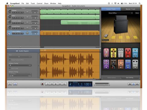 New guitar amps and effects are the big additions in the main GarageBand app.