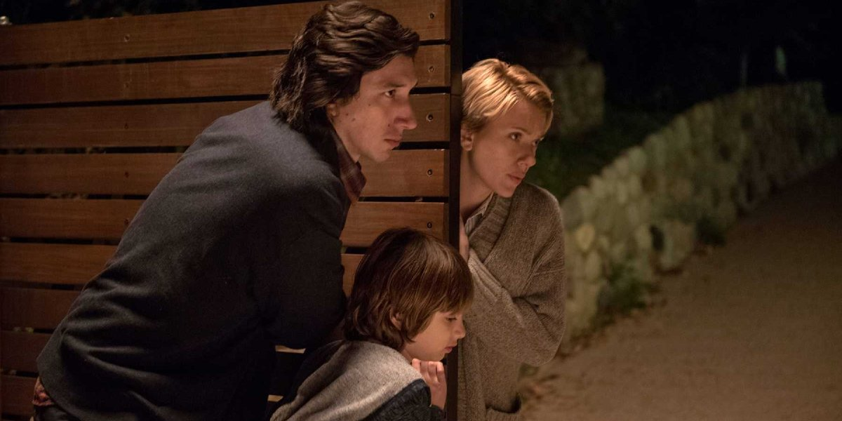 Adam Driver, Azhy Robertson, and Scarlett Johansson in Marriage Story
