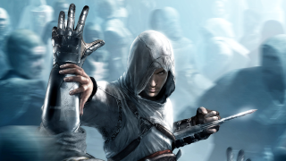 Altair unleashes his hidden blade.