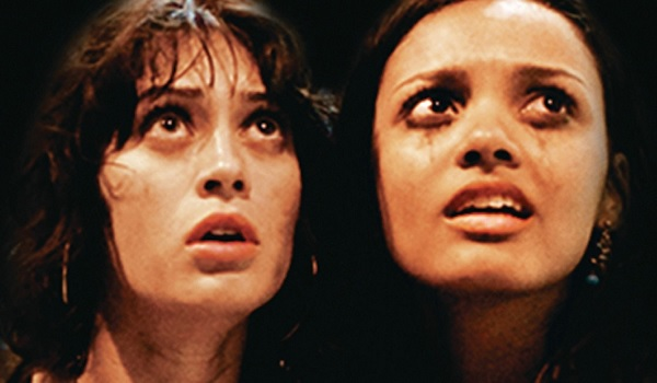 Cloverfield Marlena and Lily gaze in horror