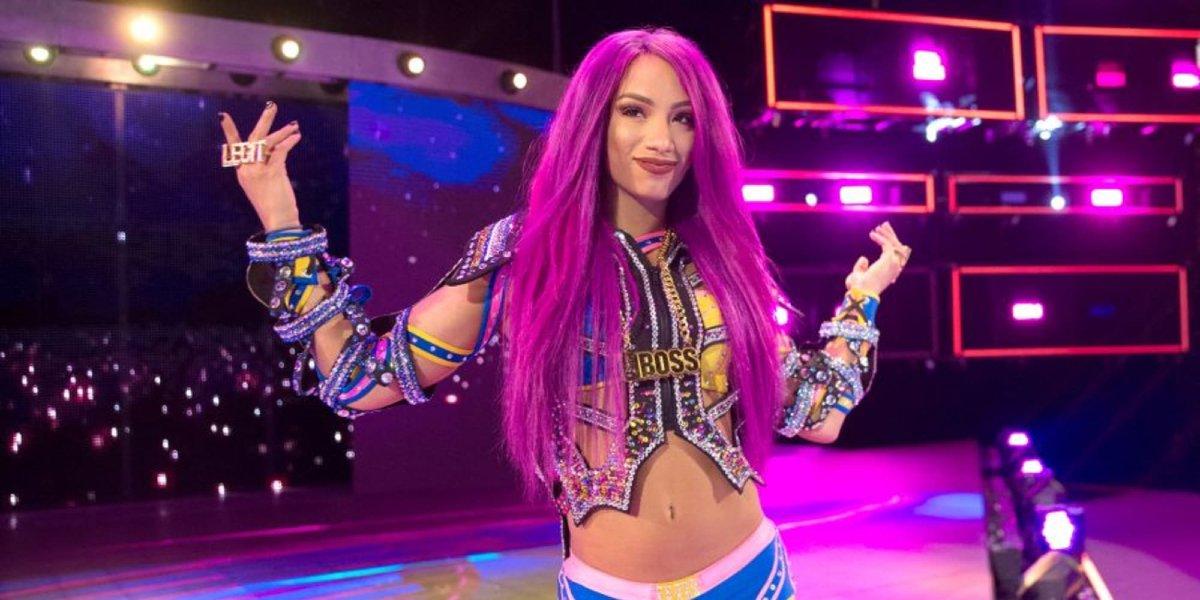 Sasha Banks on Raw