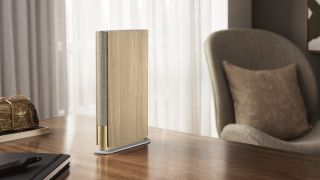 The B&O Beosound Emerge is a wireless speaker that looks like a book