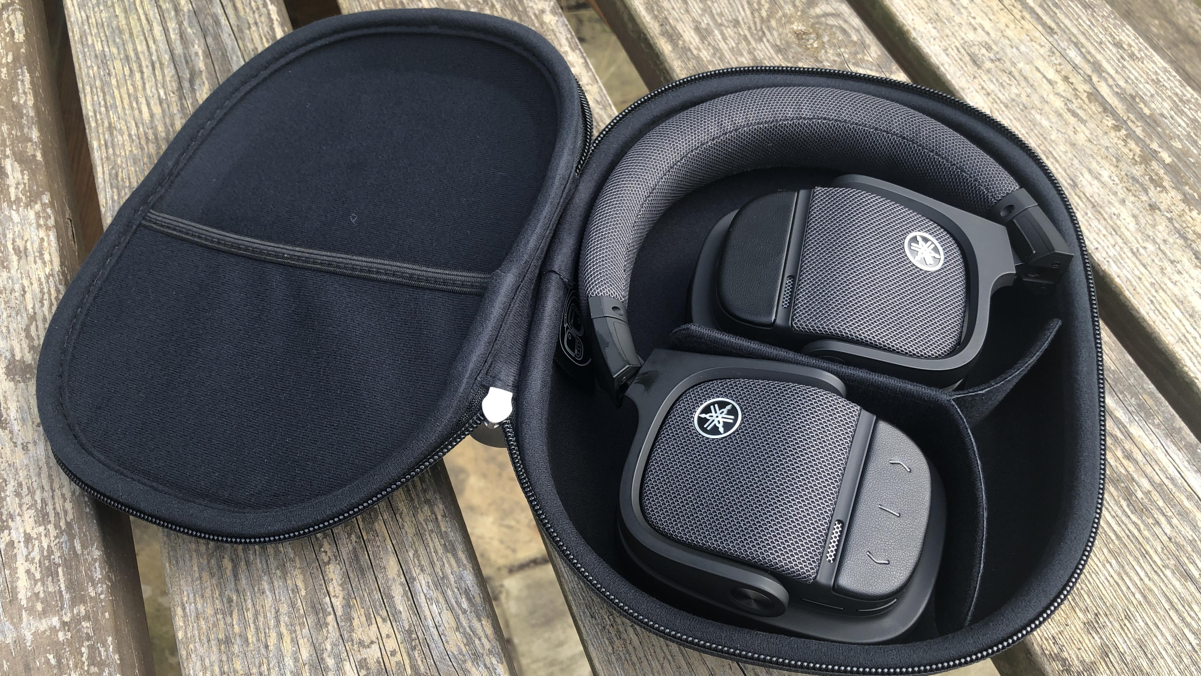 a closeup of the yamaha yh-l700a headphones