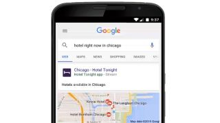 Google search results delivers apps and content within apps