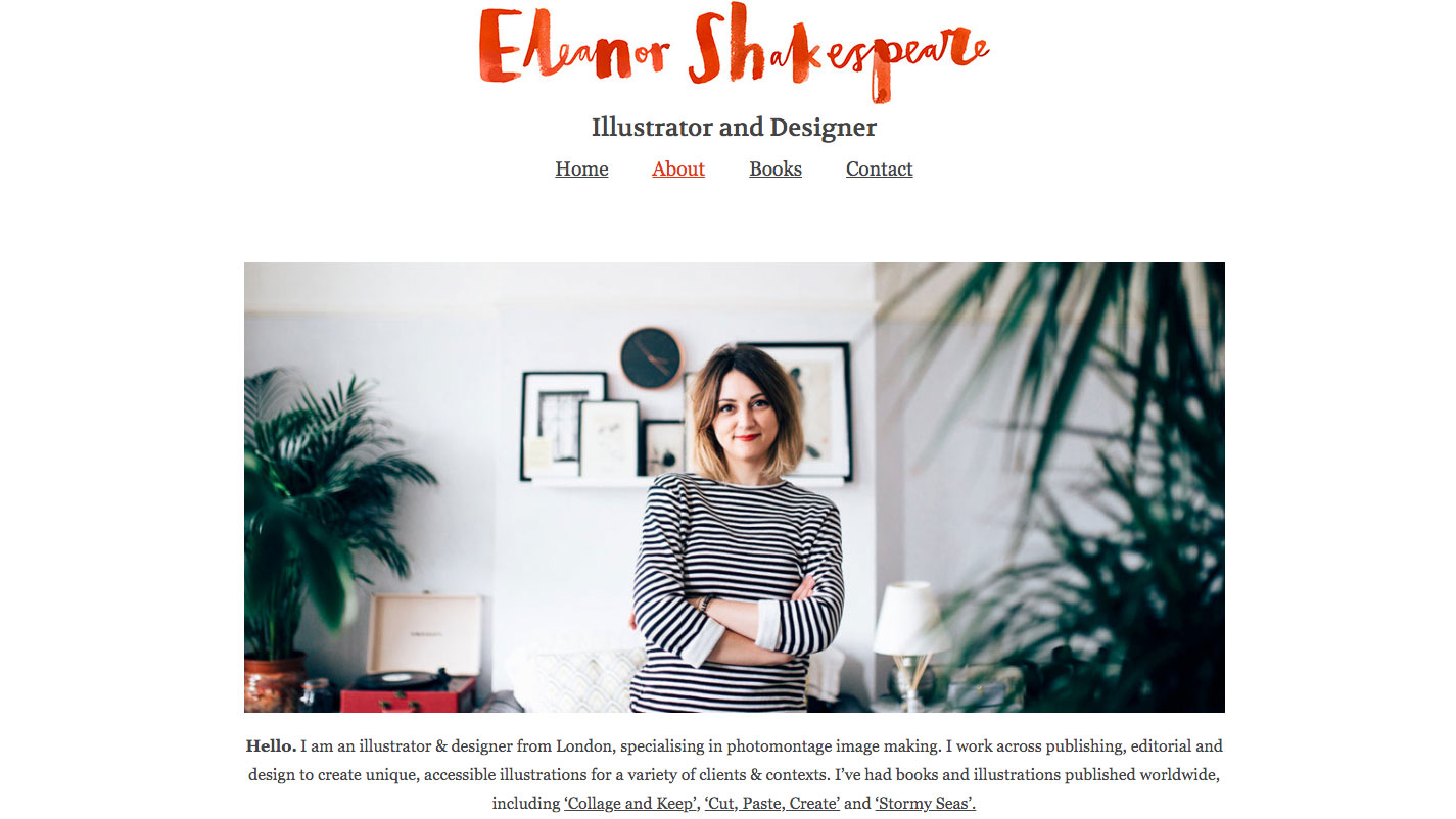 Eleanor Shakespare portfolio page