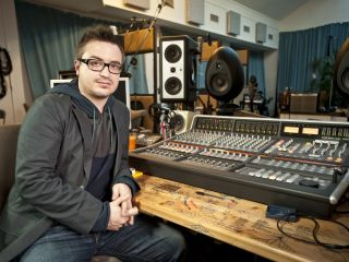 Rik Simpson and the SSL Matrix at Coldplay's Beehive studio.