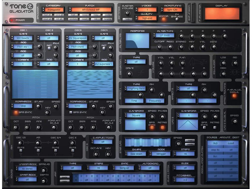 128 presets, patches for tone2 gladiator vst synth. Youtube.
