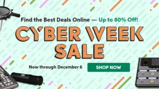 Sweetwater just launched its Cyber Week sale and savings are now up to a crazy 80% on guitar gear