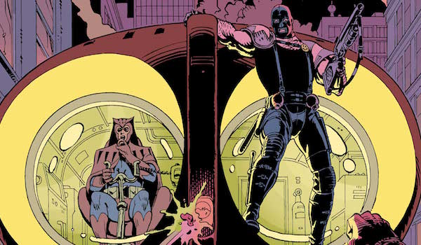 Nite-Owl and The Comedian in Watchmen comic