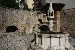 """The first """"Fountain of Tolerance,"""" in the Italian village of Fontecchio, offers the opportunity to become a human-alien hybrid, via the ingestion of meteorite-infused water."""