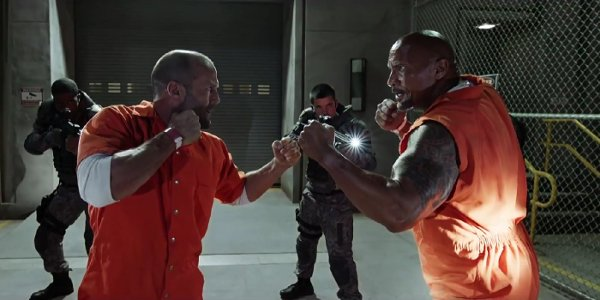 The Fate of the Furious Hobbs and Shaw Fisticuffs