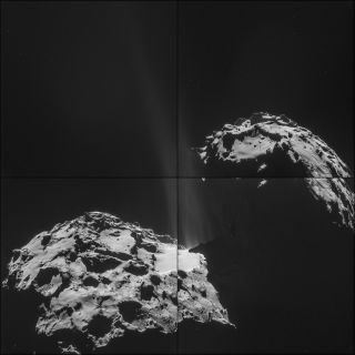 Jets Erupting on Comet 67P, Sept. 26, 2014
