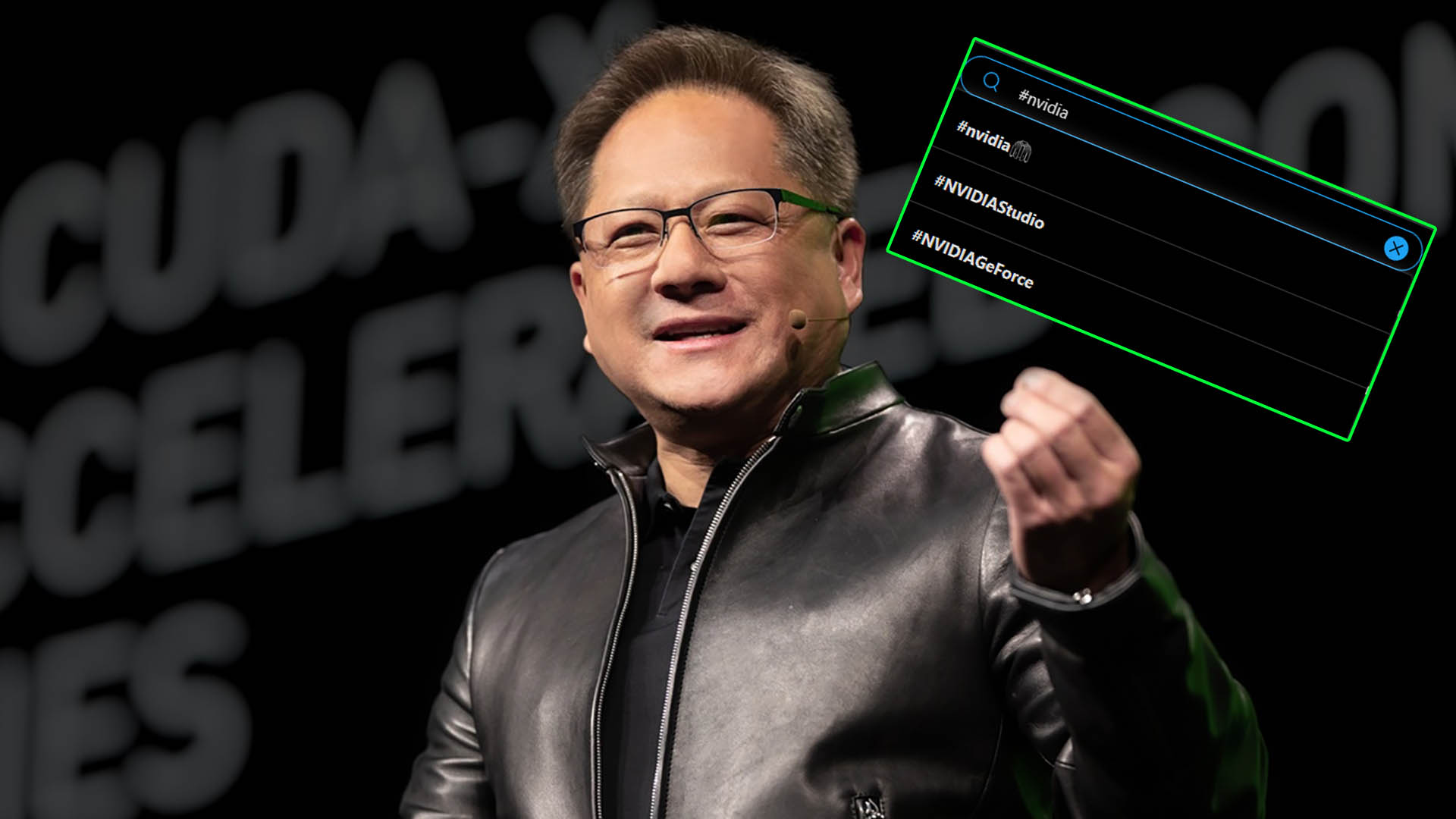 Nvidia pays good money for a hashtag emoji simply to poke fun at its CEO