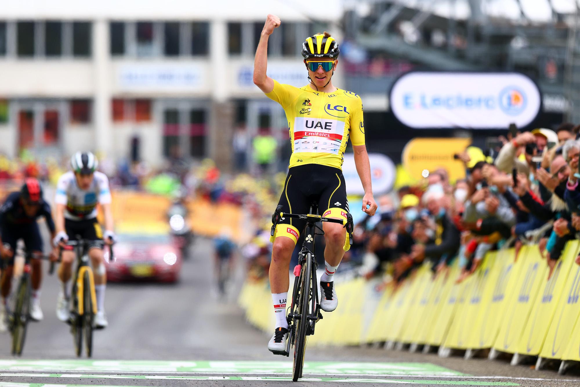 Tadej Pogacar wins stage 18 of the 2021 Tour de France