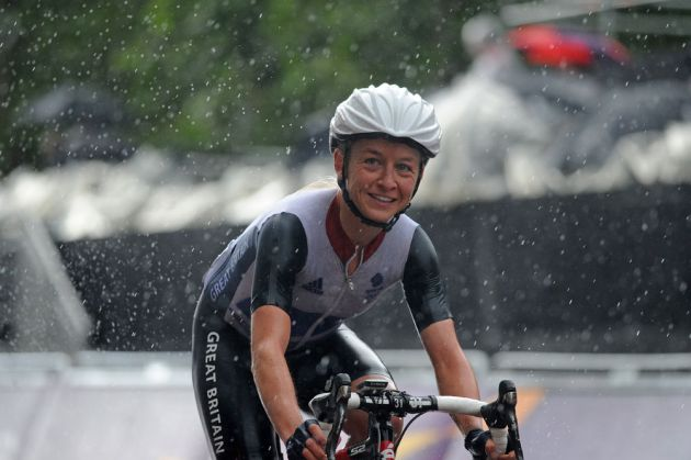 Emma Pooley finishes, London 2012 Olympics, women's road race