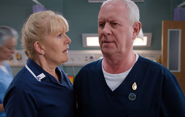 Cathy Shipton (Duffy) and Derek Thompson (Charlie) in emotional Casualty episode