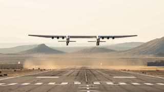 Stratolaunch has a successful first flight on April 13, 2019.