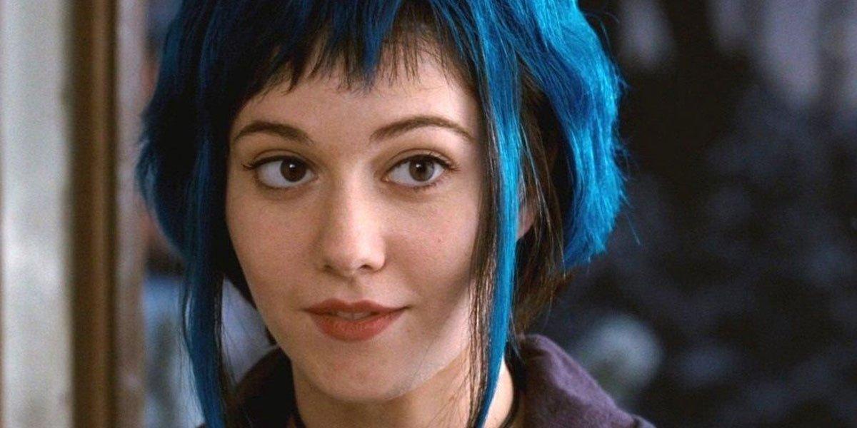 Mary Elizabeth Winstead blue hair in Scott Pilgrim vs the world