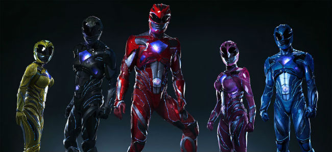 Power Rangers stand together in their suits