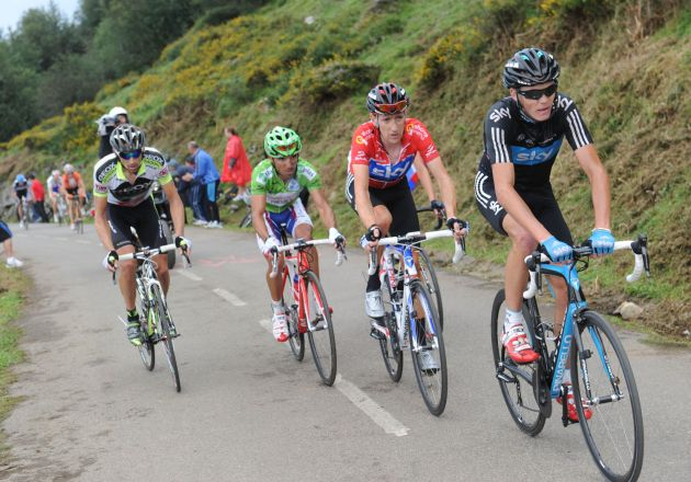 Chris Froome and Bradley Wiggins, Vuelta a Espana 2011, stage 15