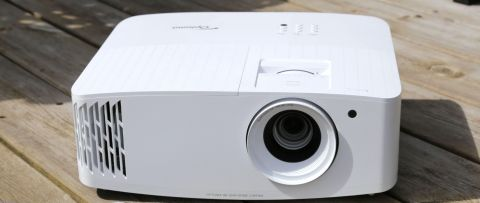 Optoma UHD38 projector in white