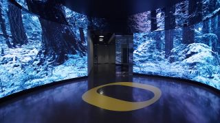 Planar CarbonLight CLI video wall at the University of Oregon's Matthew Knight Arena