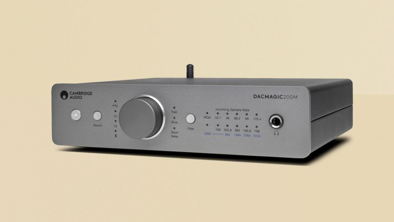 Cambridge Audio DACMagic 200M review, image of the product on a yellow background