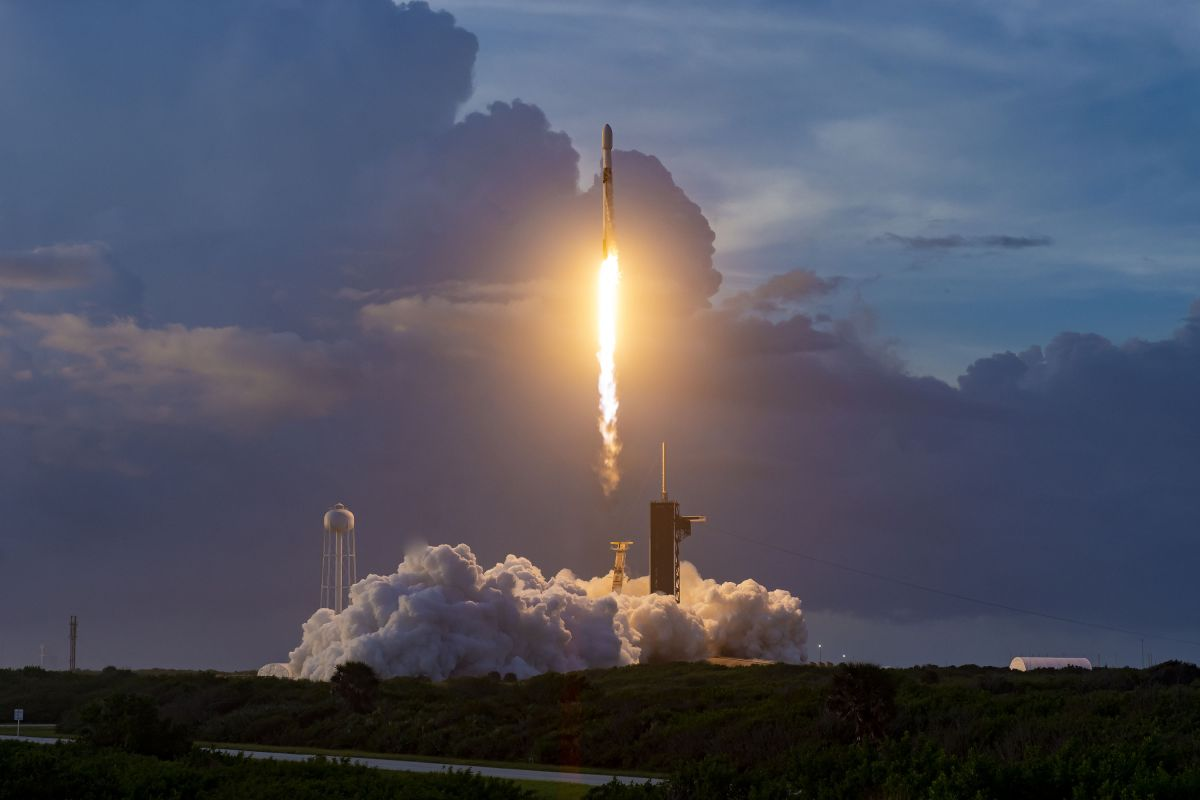 SpaceX launches 60 Starlink satellites and lands rocket at sea