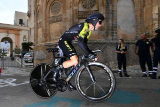 PALERMO ITALY OCTOBER 03 Simon Yates of The United Kingdom and Team Mitchelton-Scott Duomo di Monreale Monte Caputo Cathedral during the 103rd Giro dItalia 2020 Stage 1 a 151km Individual Time Trial stage from Monreale to Palermo ITT girodiitalia Giro on October 03 2020 in Palermo Italy Photo by Stuart FranklinGetty Images